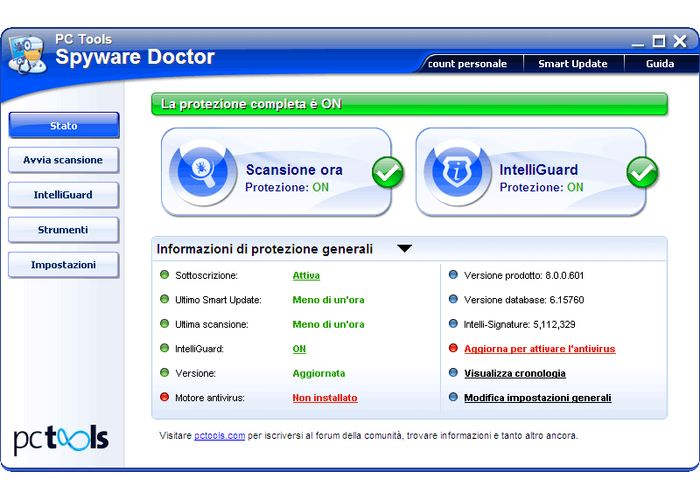 PC Tools Spyware Doctor with AntiVirus 9.1.0.2898.