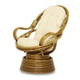Просмотр фотографии: Плетеное из ротанга кресло-качалка с вращением...
