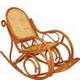 Кресло-качалка плетеная, из ротанга.