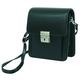 Поясная сумка из натуральной кожи имеет вертикальную, прямоугольную форму.