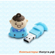 Внешний накопитель 8GB USB Drive <USB 2.0> Silicon Power Unique 520 Blue