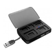 Card reader ORIENT BA-200, Combo Card R/W 80 in 1(SDHC/microSD/miniSD/MS Duo/M2), USB 2.0, ext, USB HUB 2 port, контейнер для хранения карт памяти, black, ret