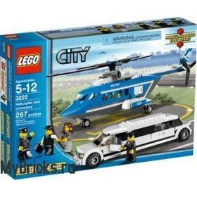 Lego City 3222 Helicopter and Limousine (Вертолет и Лимузин) 2010